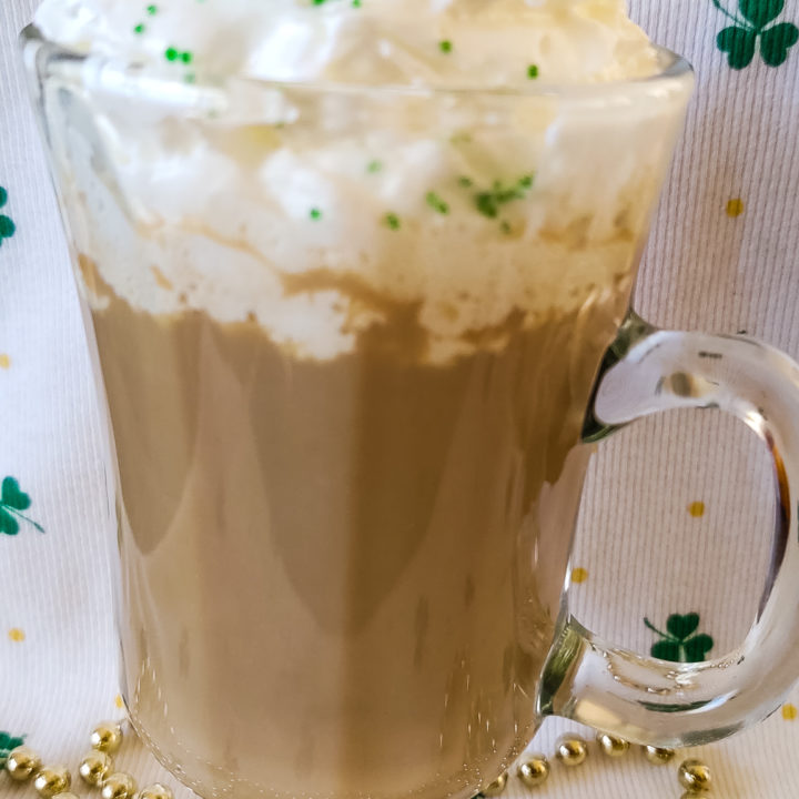 Irish Coffee Pictured with Whipped Cream